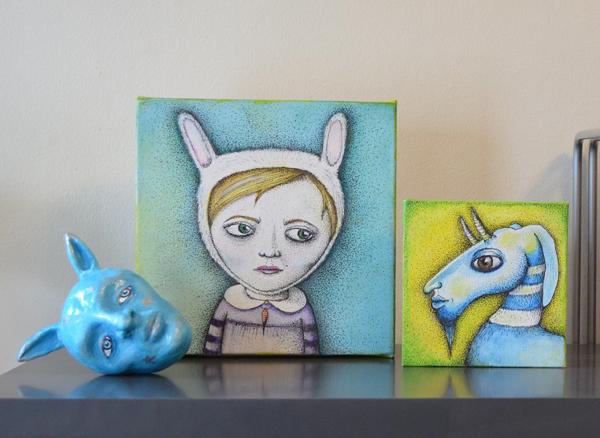 small paintings by Jennifer Rain Sherwin