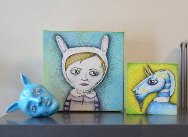 small paintings by Jennifer Rain Sherwin